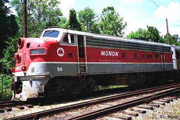 View of Monon Engine Number 96