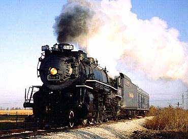 View of Steam Engine Number 587